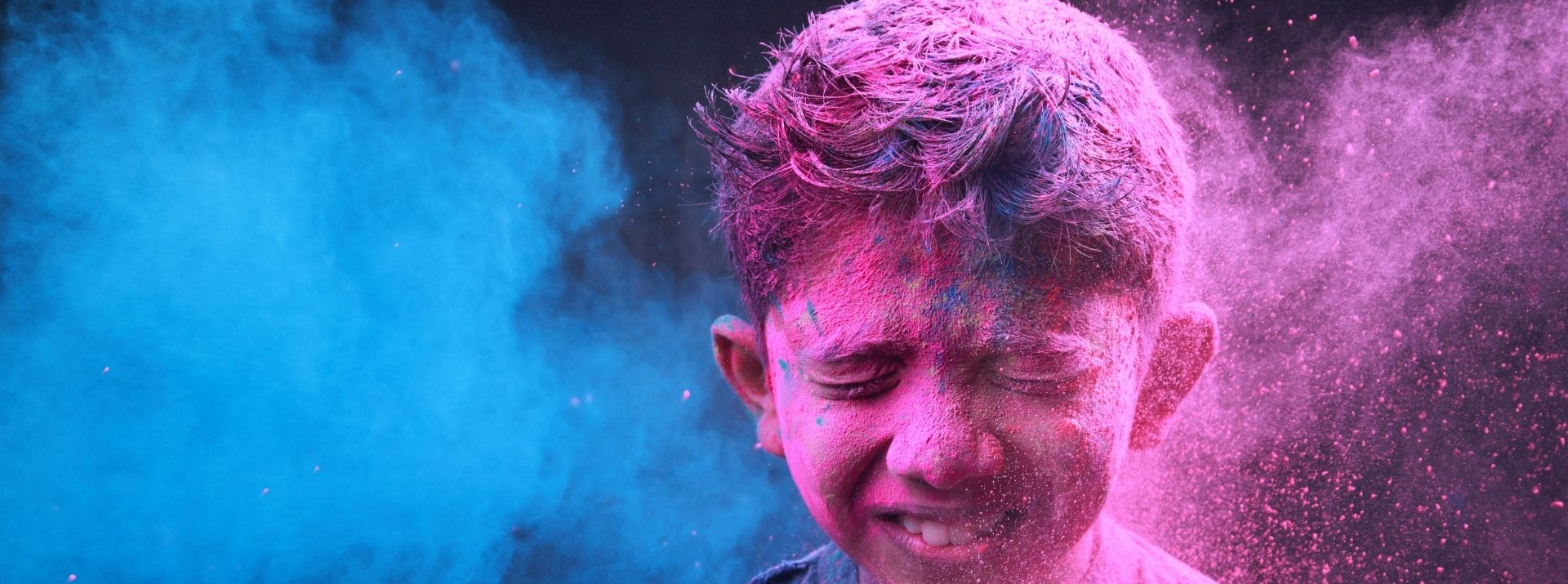 child with colour